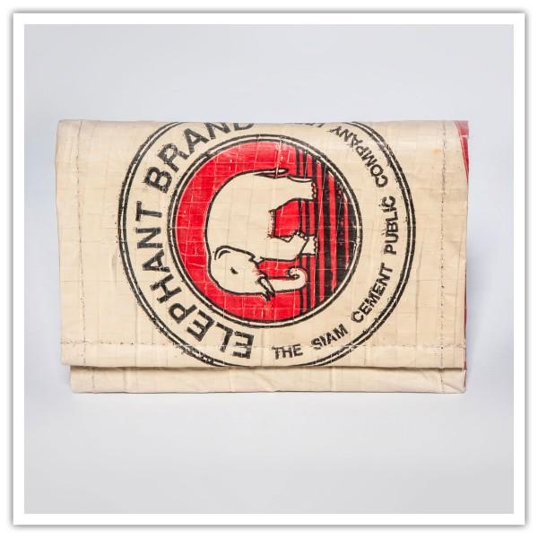 Recyclingtasche Geldbörse Klapp Red