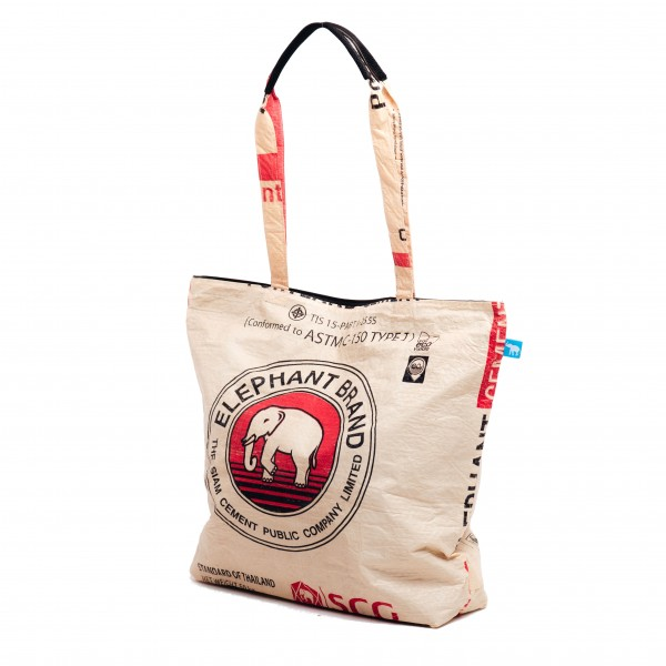 Recyclingtasche Shopper Beach Red
