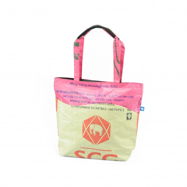 Recyclingtasche Shopper Wave Red - pinke Welle